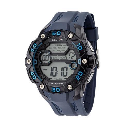 Sector Ex-07 digital grey dial blue strap uomo R3251481002