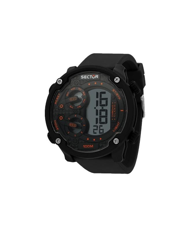 Sector Ex-20 52mm digital black strap - galleria 1