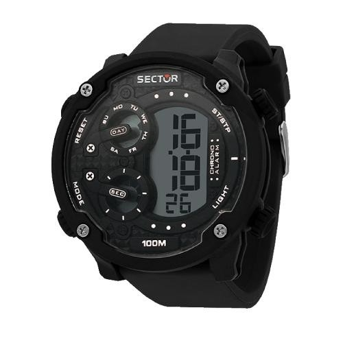 Sector Ex-20 52mm digital black strap