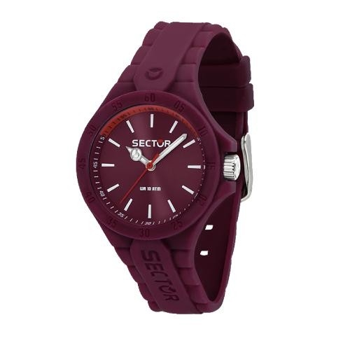 Sector Steeltouch 34mm 3h violet dial/sili st donna R3251576509