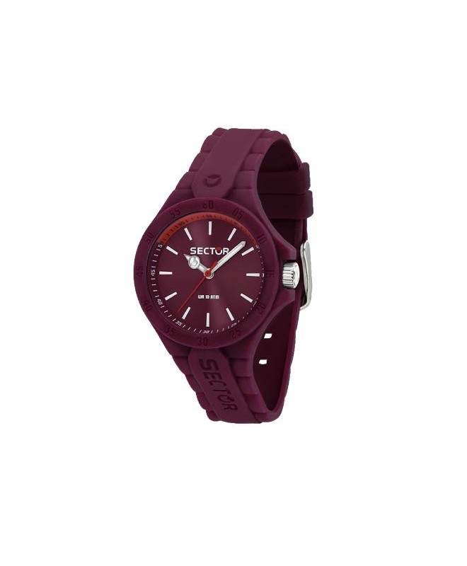 Sector Steeltouch 34mm 3h violet dial/sili st - galleria 1