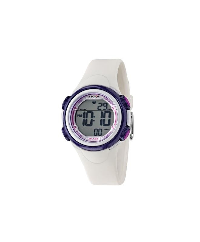 Sector Ex-06 36mm digital white strap - galleria 1