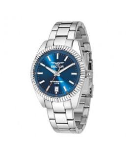 Sector 240 3h 41mm blue dial bracelet ss case