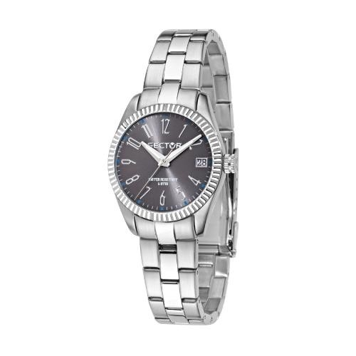 Sector 240 3h 32mm cool gray dial br ss