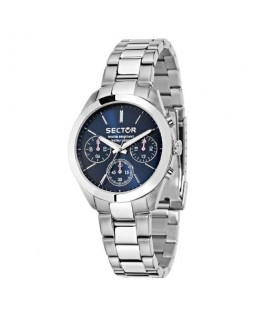 Sector 120 36mm mult blue dial bracelet ss