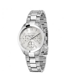 Sector 120 36mm mult w/silver dial bracelet ss