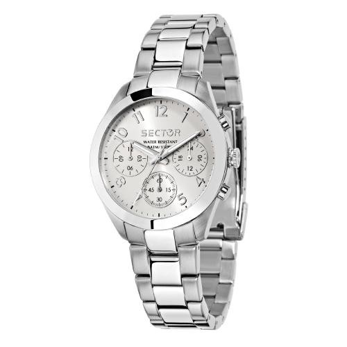 Sector 120 36mm mult w/silver dial bracelet ss donna R3253588502