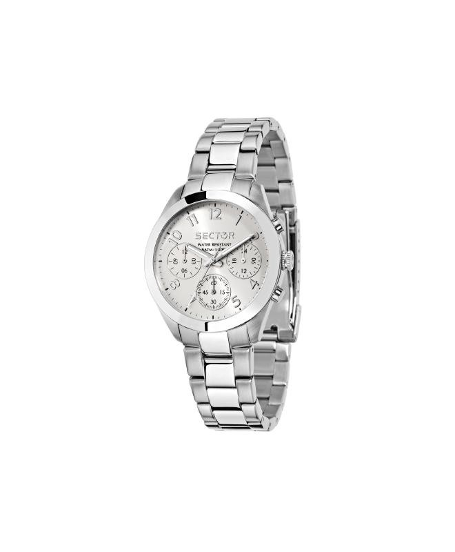 Sector 120 36mm mult w/silver dial bracelet ss donna R3253588502 - galleria 1