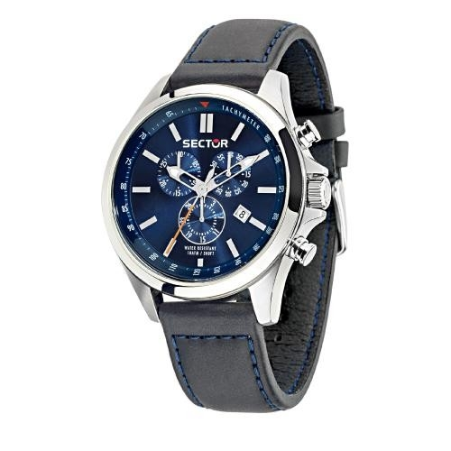 Sector 180 chr blue dial black strap