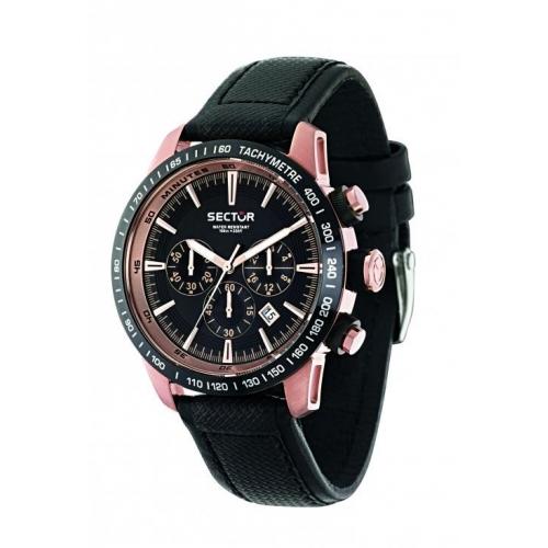 Sector 850 chr black dial black strap