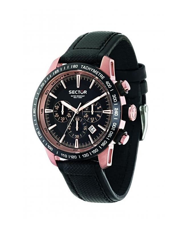 Sector 850 chr black dial black strap uomo R3271975001 - galleria 1