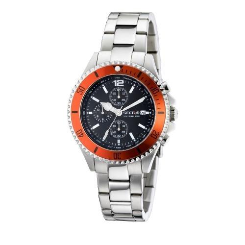 Sector 230 gent 43mm chr black dial/bracelet uomo R3273661001