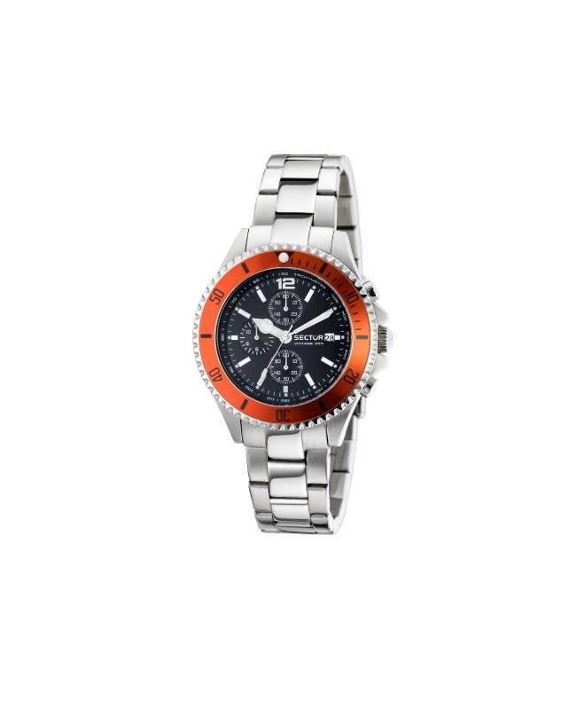 Sector 230 gent 43mm chr black dial/bracelet uomo R3273661001 - galleria 1