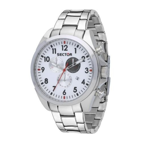 Sector 180 45mm chr silver dial ss br uomo R3273690010