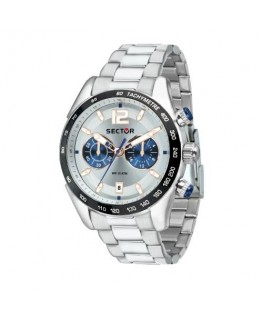 Sector 330 45mm chr silver dial br ss
