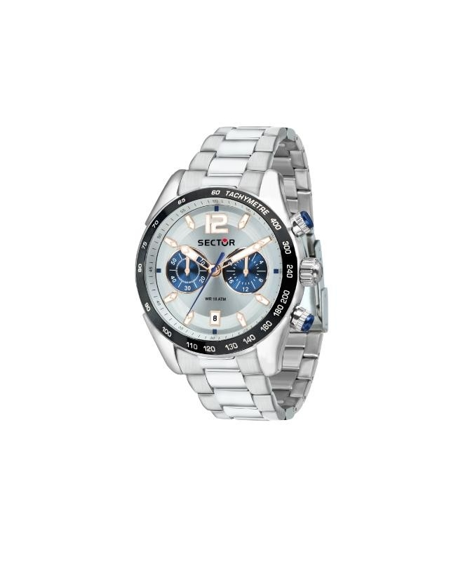 Sector 330 45mm chr silver dial br ss - galleria 1