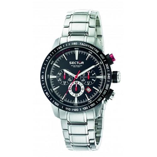 Sector 850 chr black dial bracelet uomo R3273975002