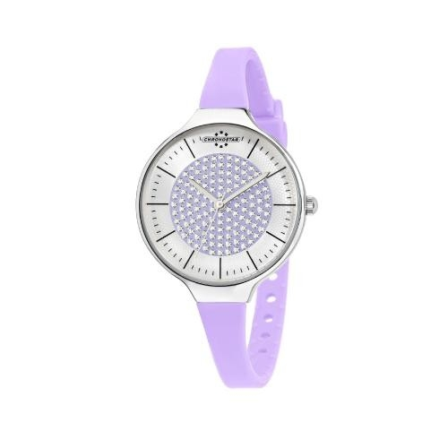 Chronostar Toffee lady 3h 30mm s/lilac dial lilac s