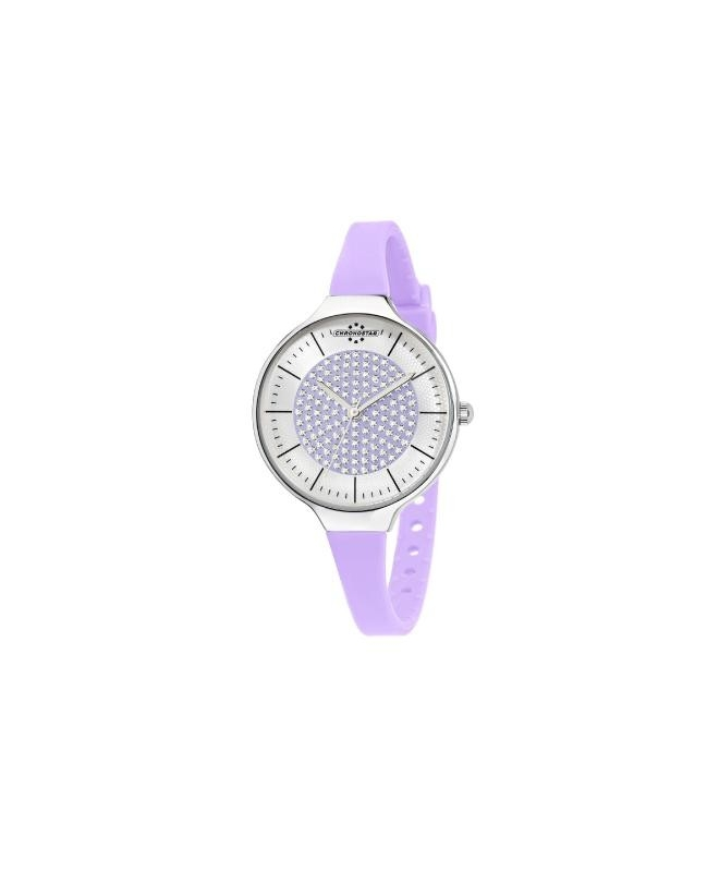 Chronostar Toffee lady 3h 30mm s/lilac dial lilac s - galleria 1