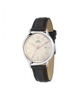 Chronostar Charles gent 39mm 3h white dial blk st