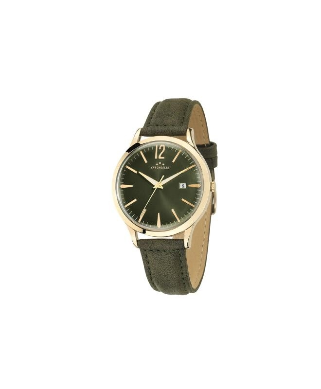 Chronostar Charles gent 39mm 3h green dial green st - galleria 1