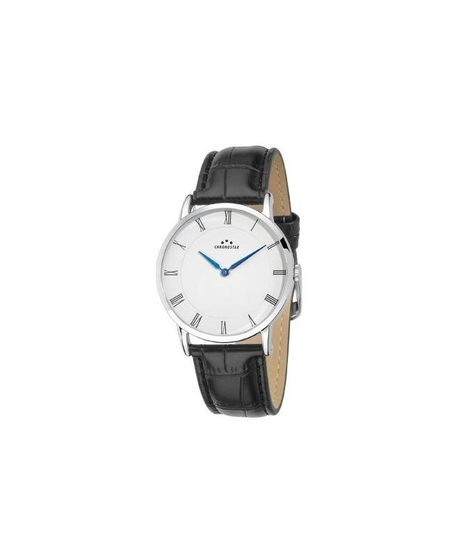 Chronostar Preppy plus 38mm 2h white dial black st - galleria 1