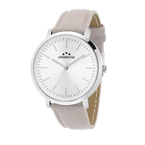 Chronostar Synthesis 38mm 2h white dial gray pu st