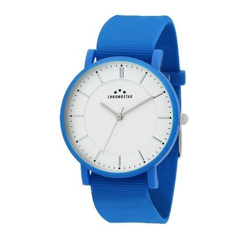 Chronostar Sorbetto 40mm 3h white dial blue silicon