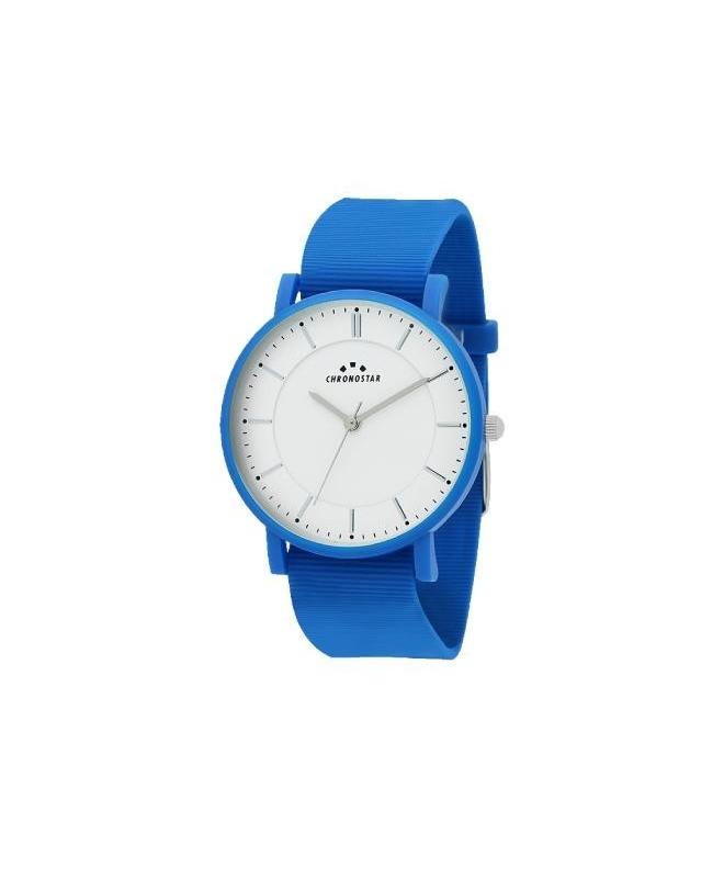 Chronostar Sorbetto 40mm 3h white dial blue silicon - galleria 1