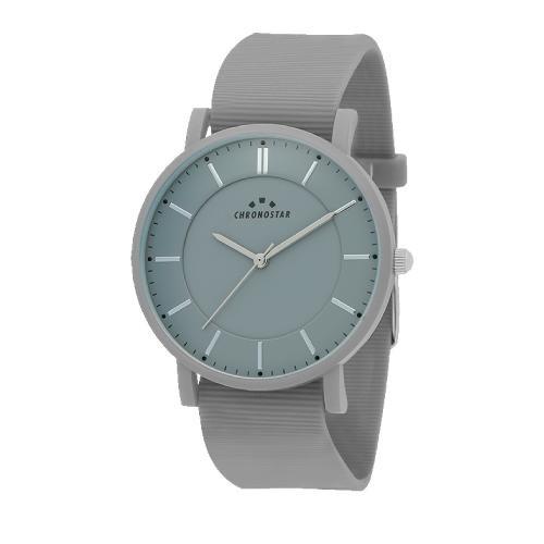 Chronostar Sorbetto 40mm 3h gray dial gray silicon