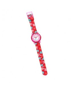 Chronostar Acquerello 31mm pink & flower dial/st