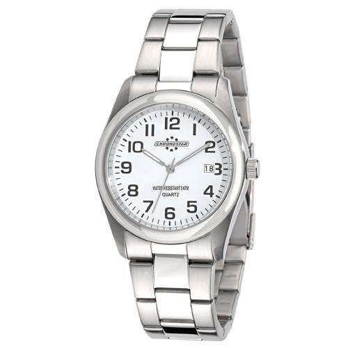 Chronostar Slim 3h white dial/bracelet