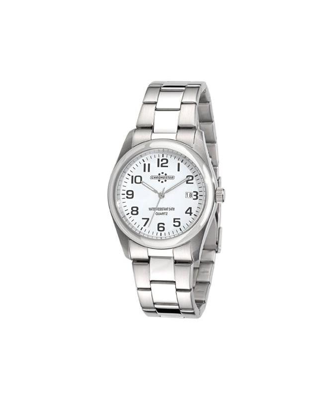Chronostar Slim 3h white dial/bracelet - galleria 1