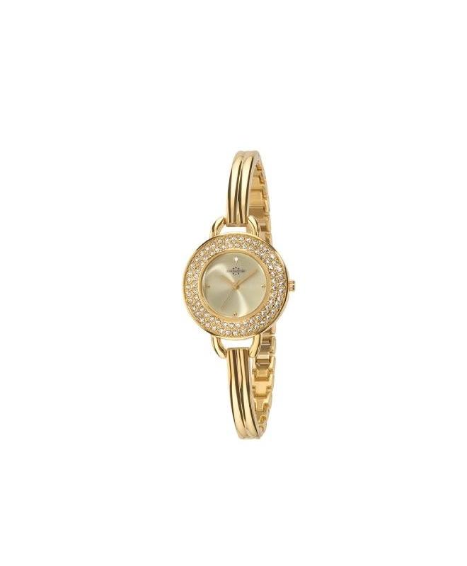 Chronostar Starlight 30mm 3h gold dial brac yg - galleria 1