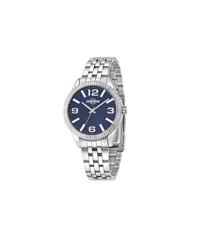 Chronostar Luxury 3h 38mm d. blue dial br - galleria 1