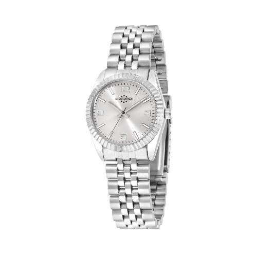 Chronostar Luxury 3h 31mm silver dial br ss