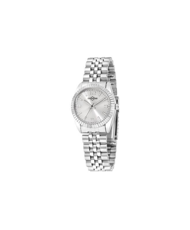 Chronostar Luxury 3h 31mm silver dial br ss - galleria 1