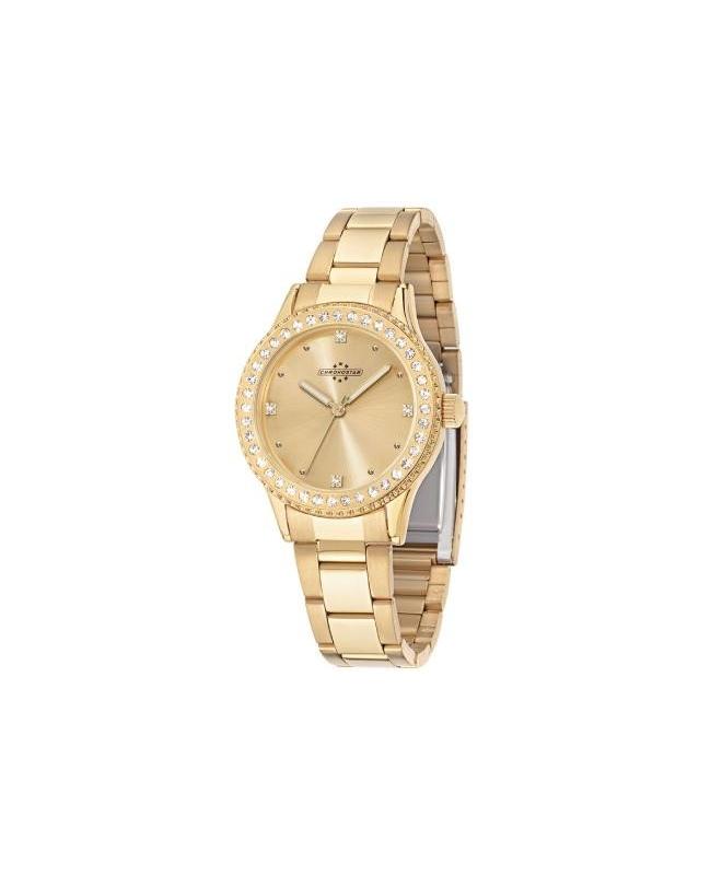 Chronostar Princess 37mm 3h gold dial brac - galleria 1