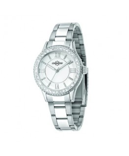 Chronostar Princess 3h 38mm white dial br ss