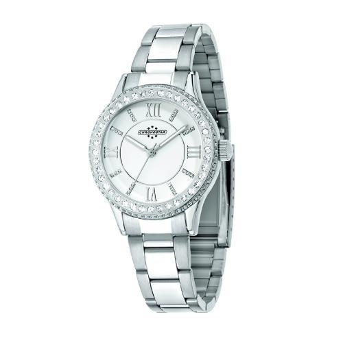 Chronostar Princess 3h 38mm white dial br ss