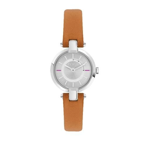 Furla Linda 24mm 2h silver dial orange strap R4251106505
