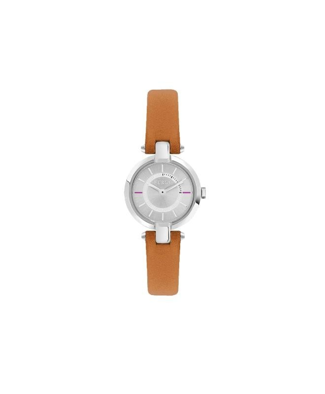Furla Linda 24mm 2h silver dial orange strap R4251106505 - galleria 1