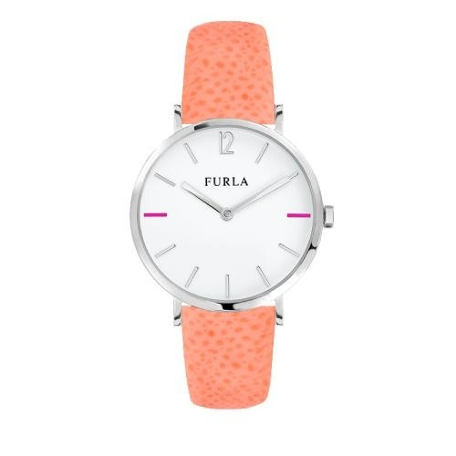 Furla Giada 33mm 2h white dial rose strap R4251108513