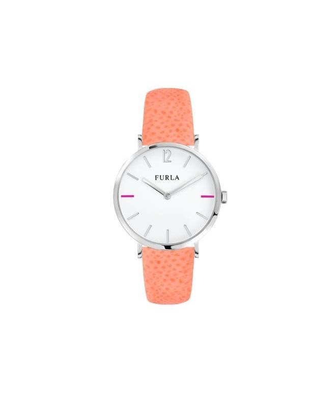 Furla Giada 33mm 2h white dial rose strap R4251108513 - galleria 1