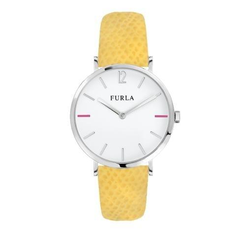 Furla Giada 33mm 2h white dial yellow strap R4251108514
