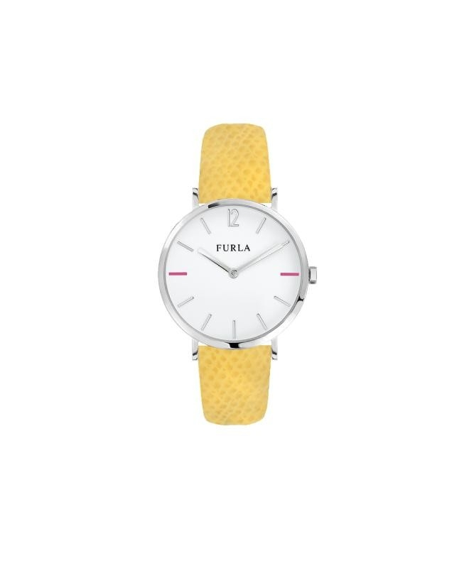 Furla Giada 33mm 2h white dial yellow strap R4251108514 - galleria 1