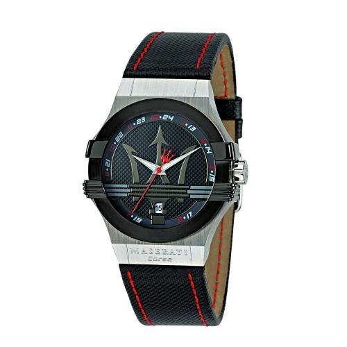 Maserati Potenza 3h black dial black strap uomo R8851108001