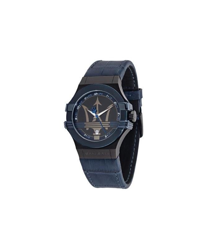 Maserati Potenza 3h gun case gun dial/blue strap uomo - galleria 1