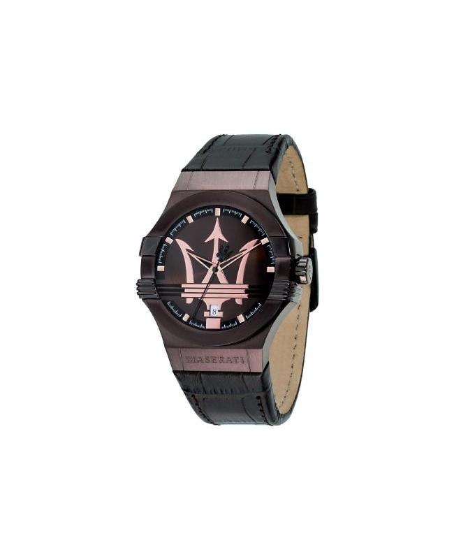 Maserati Potenza 42mm 3h brown dial brown str uomo R8851108011 - galleria 1