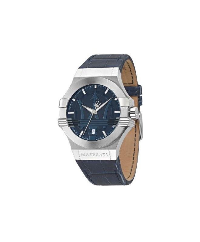 Maserati Potenza 42mm 3h blue dial blue strap uomo R8851108015 - galleria 1